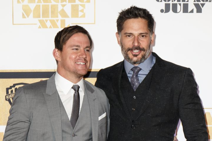 "Channing Tatum and Joe Manganiello were all smiles at the ""Magic Mike XXL"" premiere in Sydney, Australia."