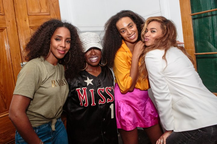 Beyonce and her fam, Missy Elliott, Kelly Rowland, and Solange Knowles.