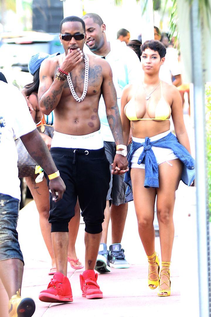 Safaree Samuels took his new model chick to thot paradise, aka South Beach, Miami.