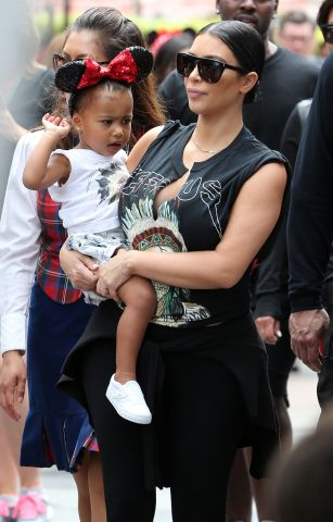 Penelope Disick's birthday at Disneyland - North West, Kim Kardashian