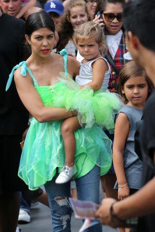 Penelope Disick's birthday at Disneyland - Kourtney Kardashian, Mason Disick