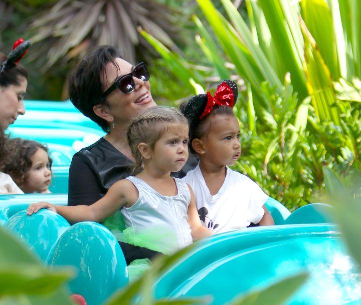 Kris Jenner shows her grandchildren how to let loose.