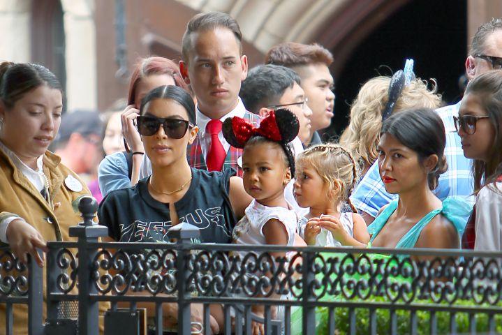 Penelope Disick's birthday at Disneyland - Kourtney Kardashian, North West, Kim Kardashian