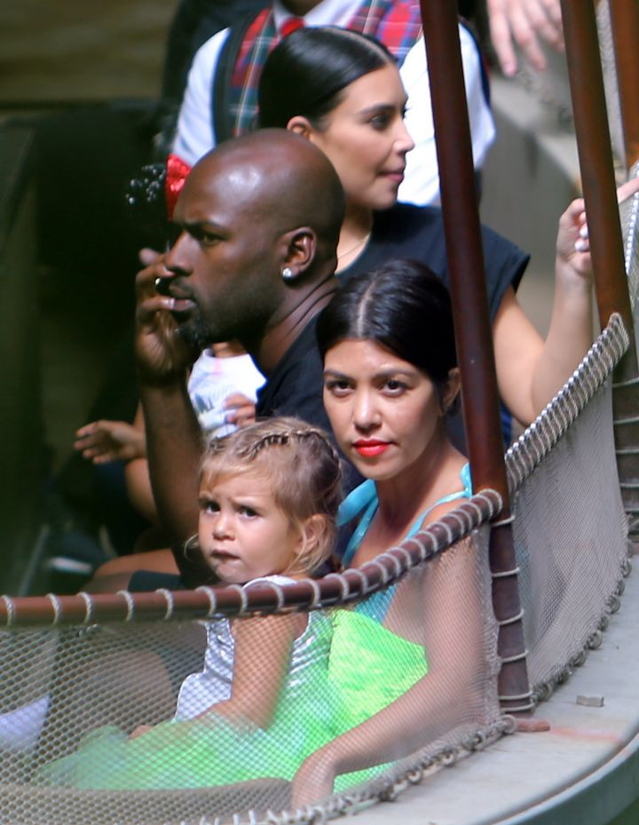 Penelope, Kourtney, Kim, and Kris' new man Corey Gamble hit Disneyland with a vengeance.