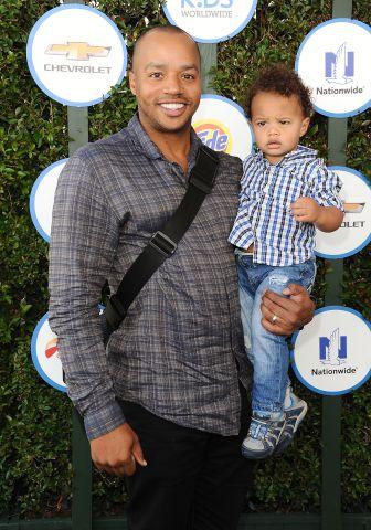 Actor Donald Faison and son Rocco Faison attend Safe Kids Day