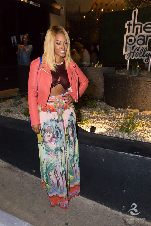 BBWLA star Malaysia Pargo attends viewing event in Hollywood.