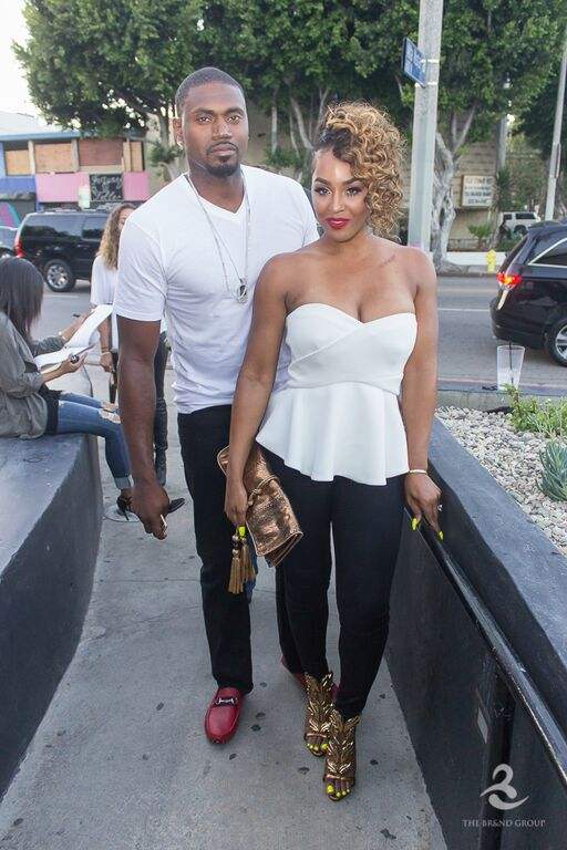 Jason and Brandi Maxiell attend viewing event in Hollywood.