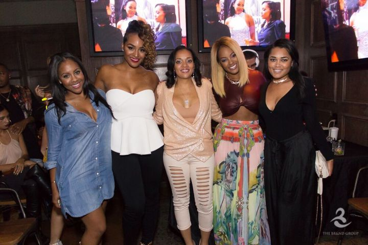 BBWLA stars Brandi Maxiell, Malaysia Pargo, and Patrice Curry attend fourth season premiere viewing event in Hollywood.