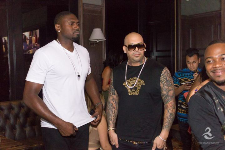 Jason Maxiell and producer Mally Mal attend BBWLA viewing event in Hollywood.
