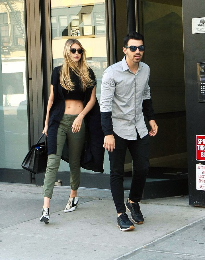 Joe Jonas and his girlfriend Gigi Hadid were spotted exiting their hotel for a lunch date in New York City.