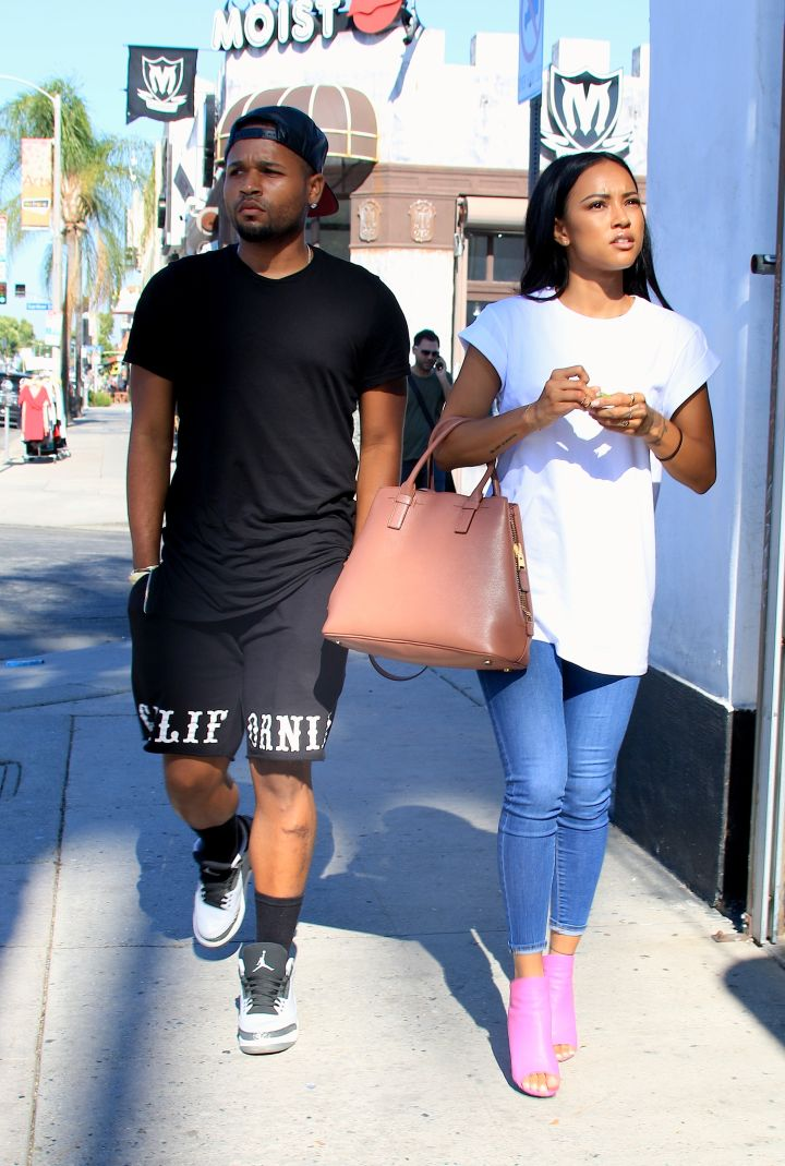Besties Karrueche and J Ryan were spotted shopping on Melrose Avenue in West Hollywood.
