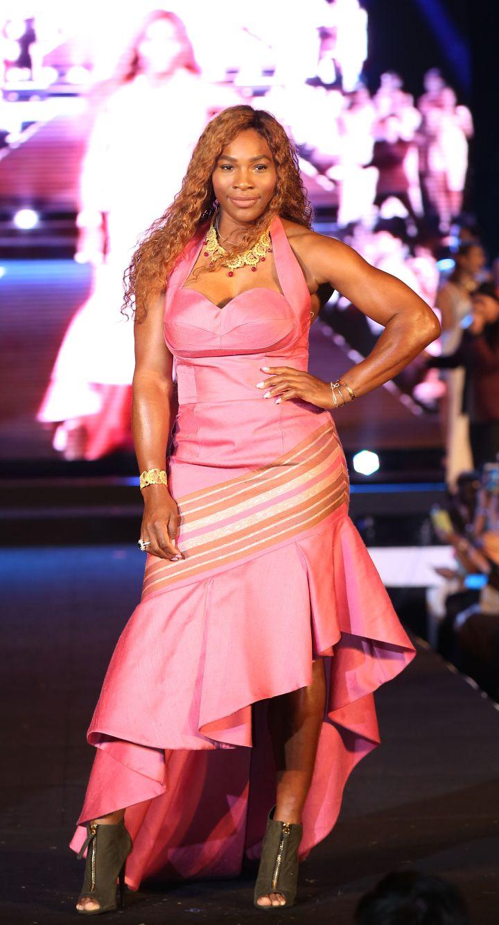 Serena handles runways with ease, too.