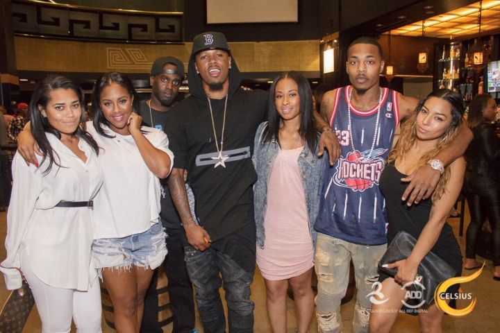 The Brand Group poses with Booby Gibson at the All Def Comedy Live event in L.A.