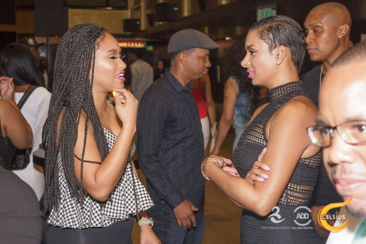 Tahiry and Laura Govan take a moment to have some girl time.
