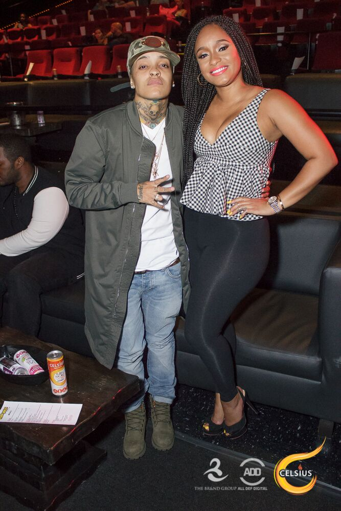 Tahiry smiles for the camera with Siya at the All Def Comedy Live event in L.A.