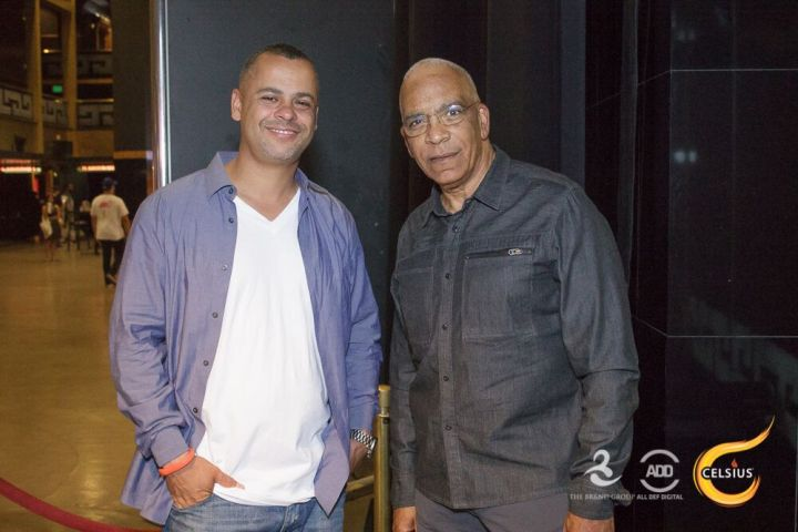 Stan Lathan keeps it casual in front of the camera at the All Def Comedy Live event in L.A.