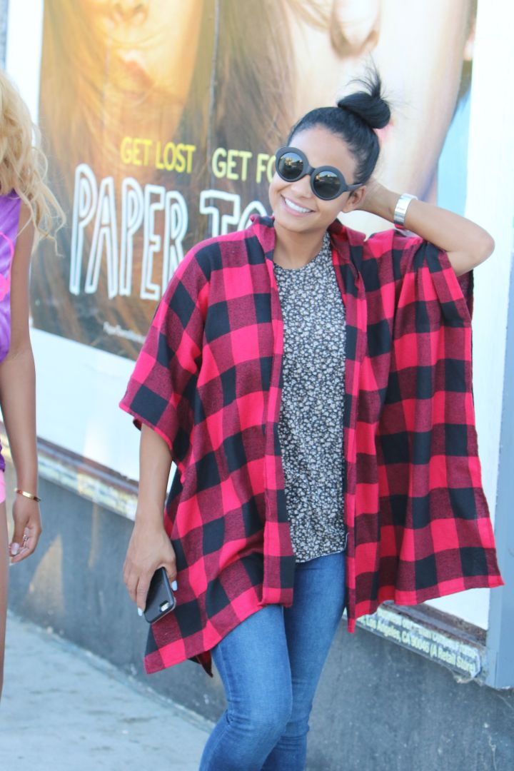 Christina Milian was all smiles and all natural while out in West Hollywood