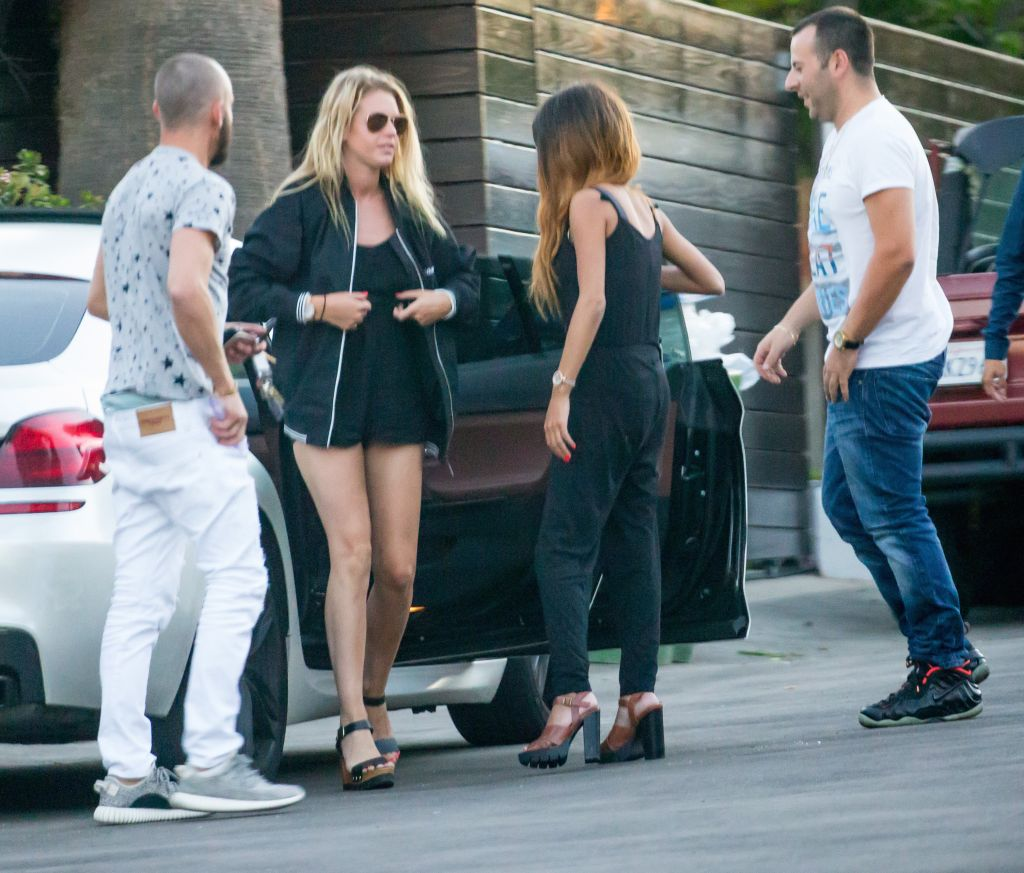 unidentified females and males seen going into Scott Disick's in Beverly Hills, CA