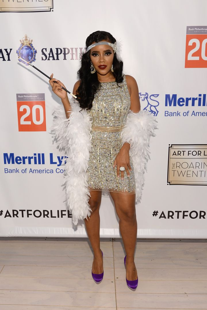 Angela Simmons basically executed the '20s theme in perfect fashion.