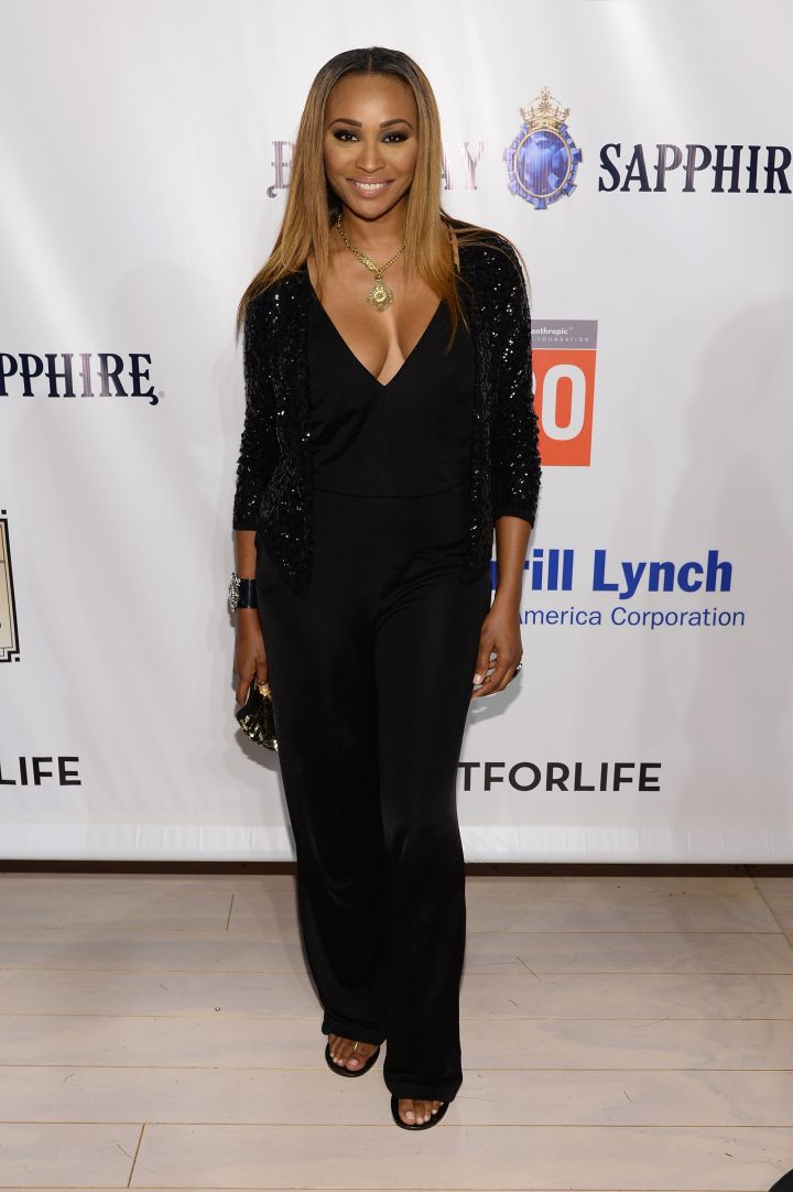RHOA star Cynthia Bailey came out for the cause in all black.