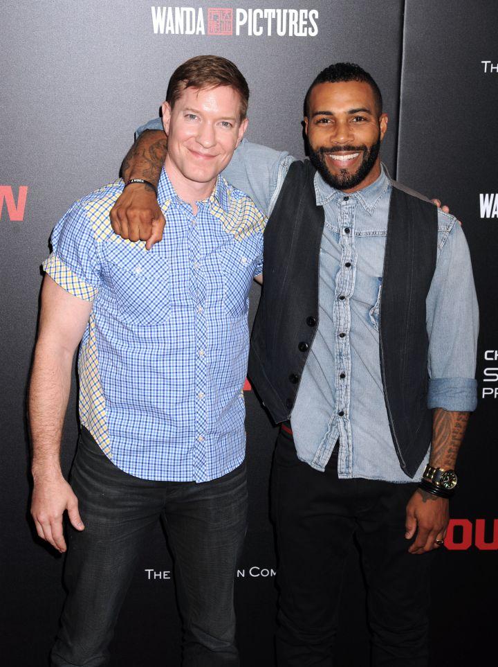 """Power"" stars Joseph Sikora & Omari Hardwick pose at the NYC premiere of ""Southpaw."""