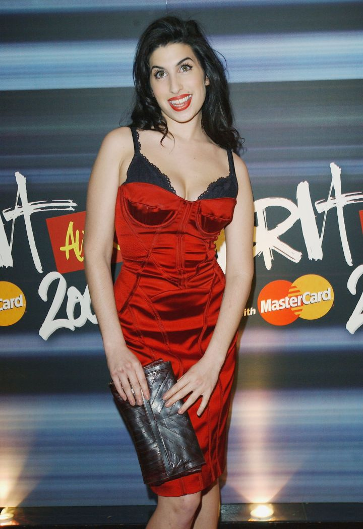 Amy Winehouse at the shortlist announcement for the BRIT Awards 2004.
