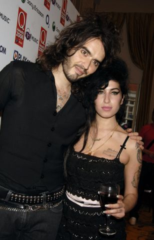Amy Winehouse and Russell Brand at the Q Awards 2006