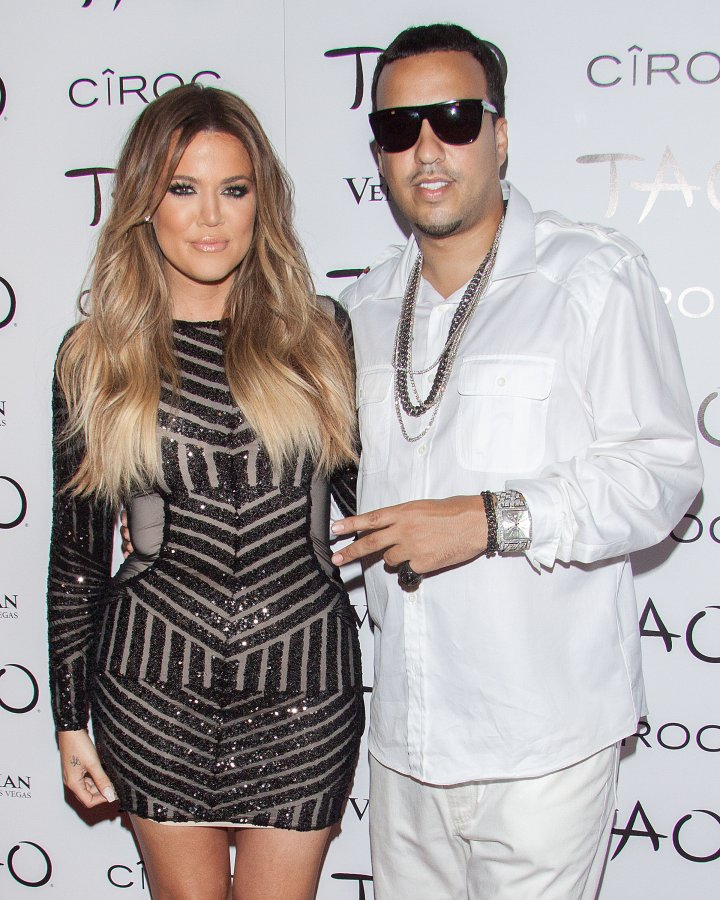 Khloe Kardashian became French's first public, high profile relationship.