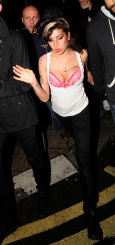 Amy enjoying a night out in Camden