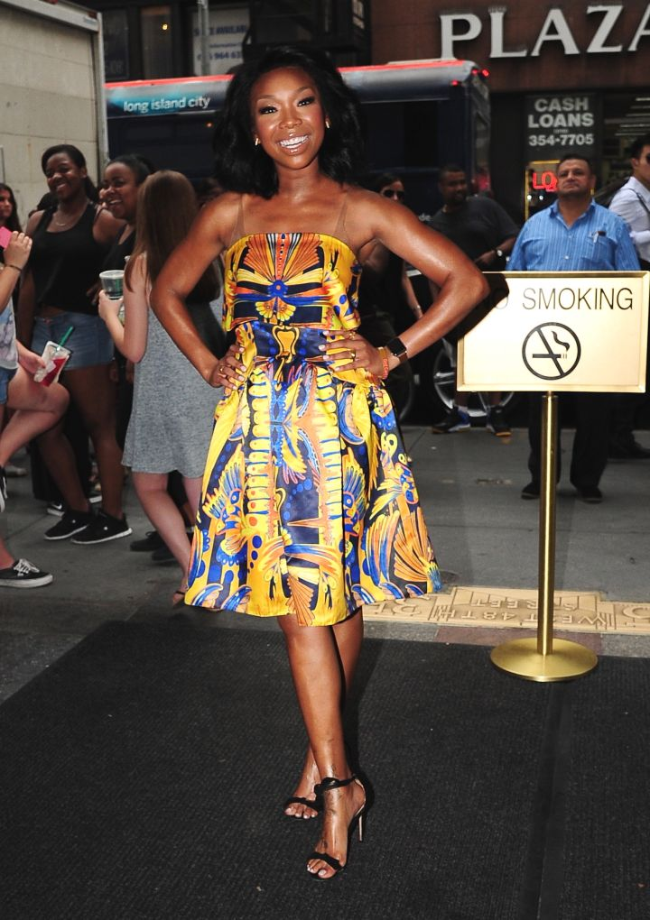 They know who Brandy is now. The singer/actress was snapped ahead of her Broadway show.