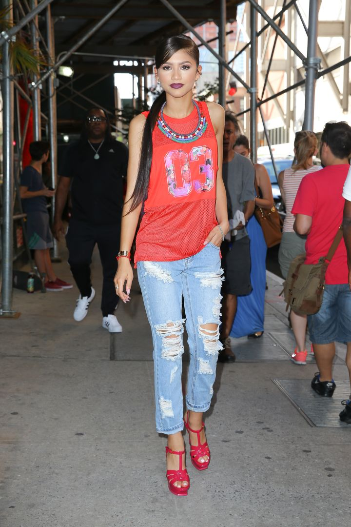Zendaya is perfection while walking down the block in NYC.