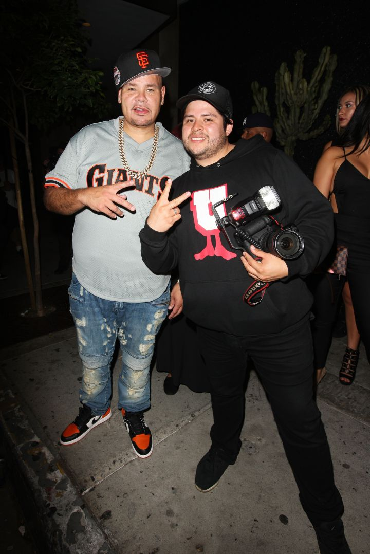 Fat Joe took a selfie outside of the L.A. hot spot Bootsy Bellows Nightclub in West Hollywood, CA.