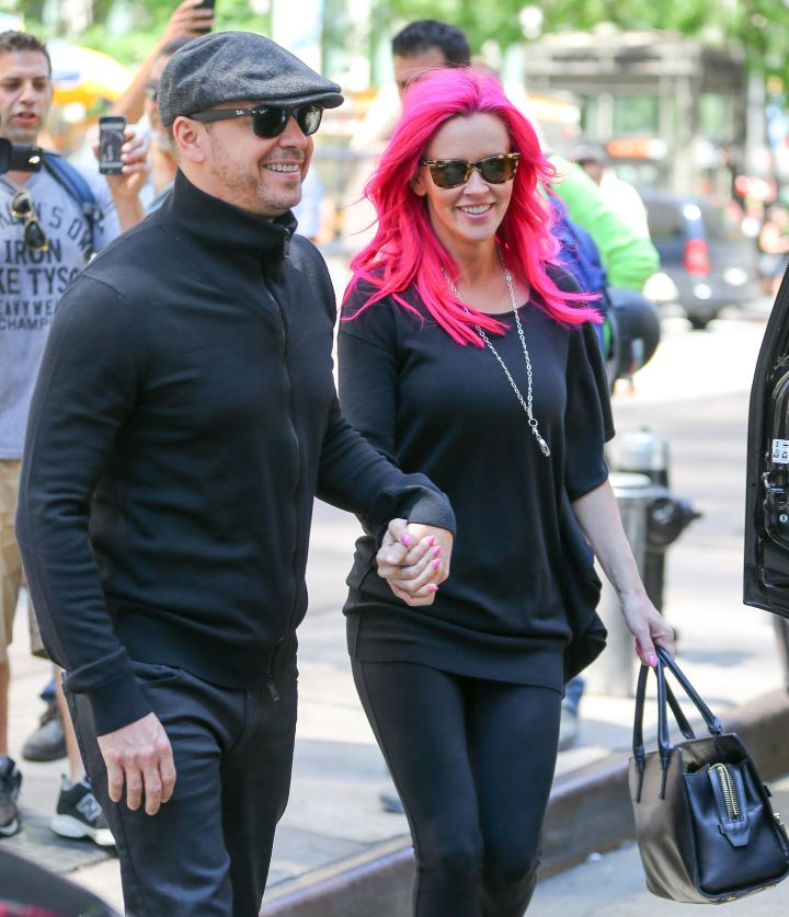 Jenny McCarthy and Donnie Wahlberg, aka the White Nicki Minaj and Meek Mill, were spotted hand-in-hand while out and about in New York City.
