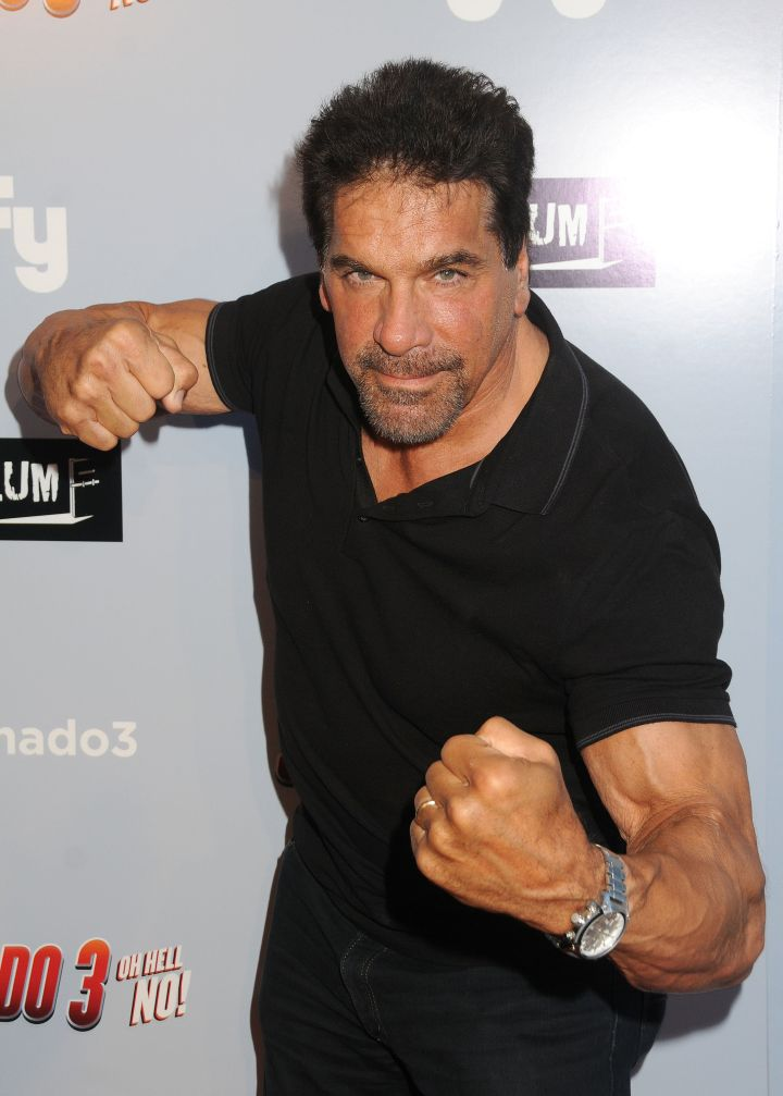 """Lou Ferrigno hulks out at the """"Sharknado 3: Oh Hell No!"""" Los Angeles Premiere at iPic Theaters."""