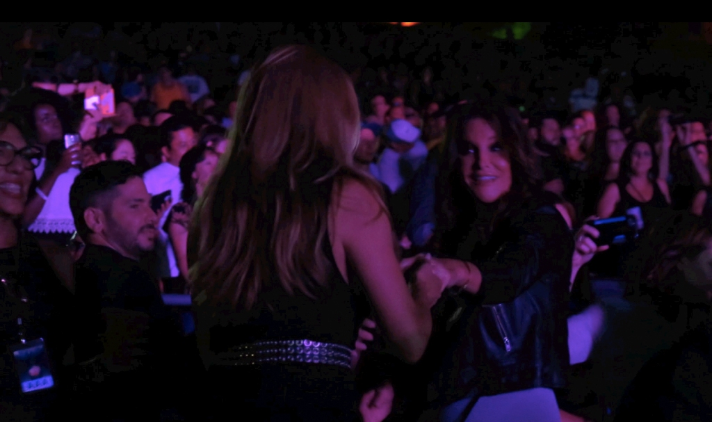 Caitlyn Jenner dances with her BFF transgender friend Candis Cayne at the Greek Theater in Los Angeles CA
