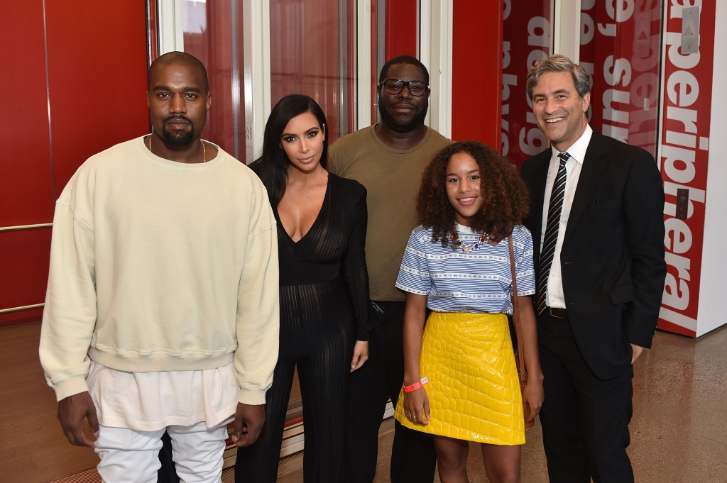 Kim Kardashian, Kayne West, Steve McQueen and LACMA Director and CEO Michael Govan attend LACMA Director's Conversation With Steve McQueen