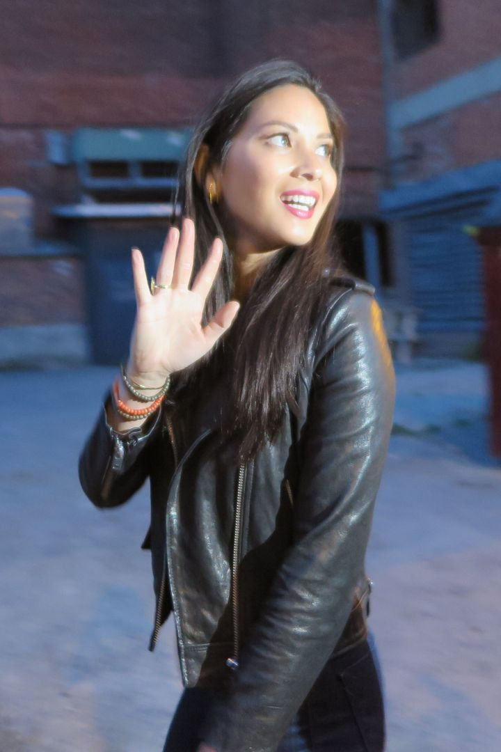 Funny girl Olivia Munn was spotted at a Live Read at the Just For Laugh in Montreal.