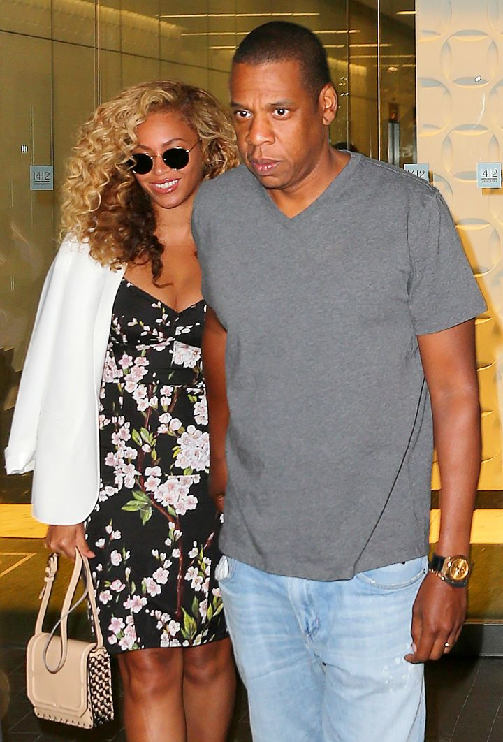Relationship Goals. Jay Z and Beyonce left their NYC office together after a hard day of running the world.