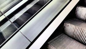 Close-Up Of Escalators