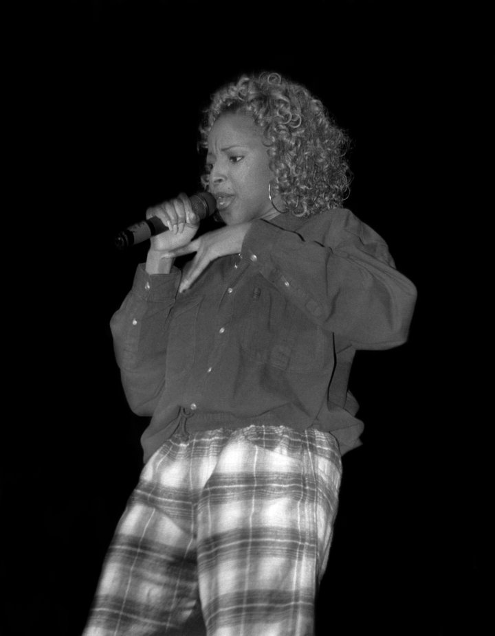 Mary does her one, two-step while performing in '92.