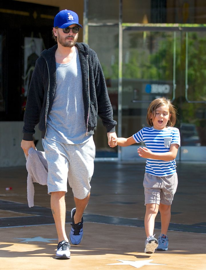 It was Daddy Time with Scott and Mason Disick as the boys hit the movies.