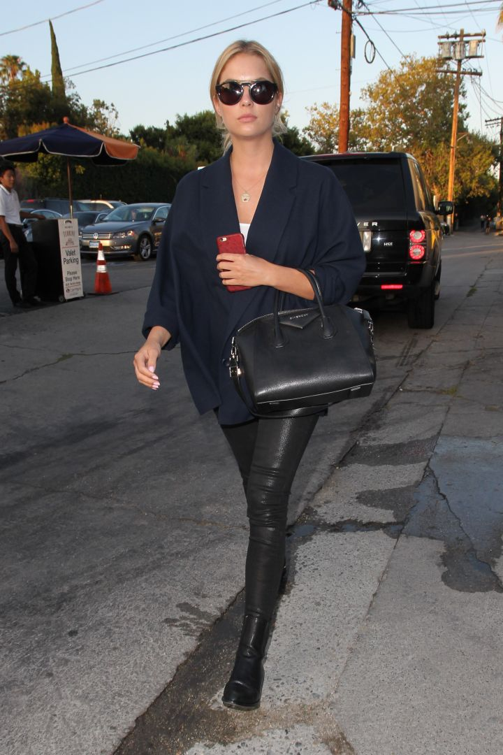 Ashley Benson wAs spotted leAving Terrine in West Hollywood.