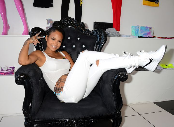 Christina Milian was posted up at the We Are Pop Culture pop up shop grand opening.