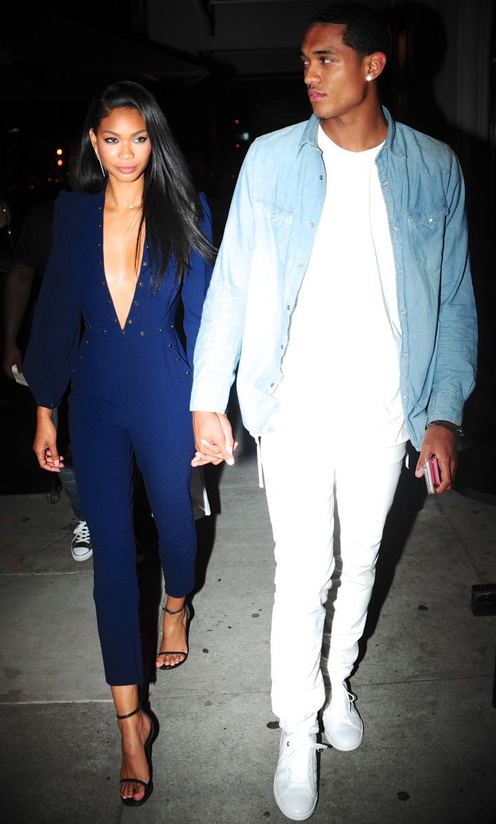 New couple alert: Chanel Iman and Lakers star Jordan Clarkson left dinner at Craig's in Melrose, CA.