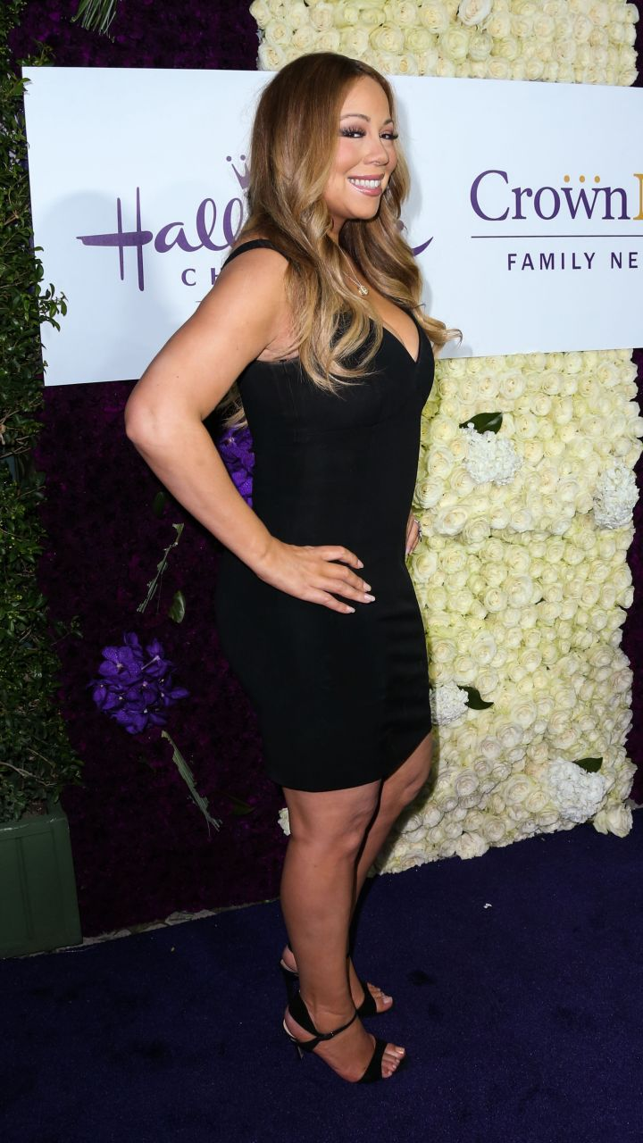 Mariah Carey arrives at the Crown Media Family Networks' Hallmark Channel event.