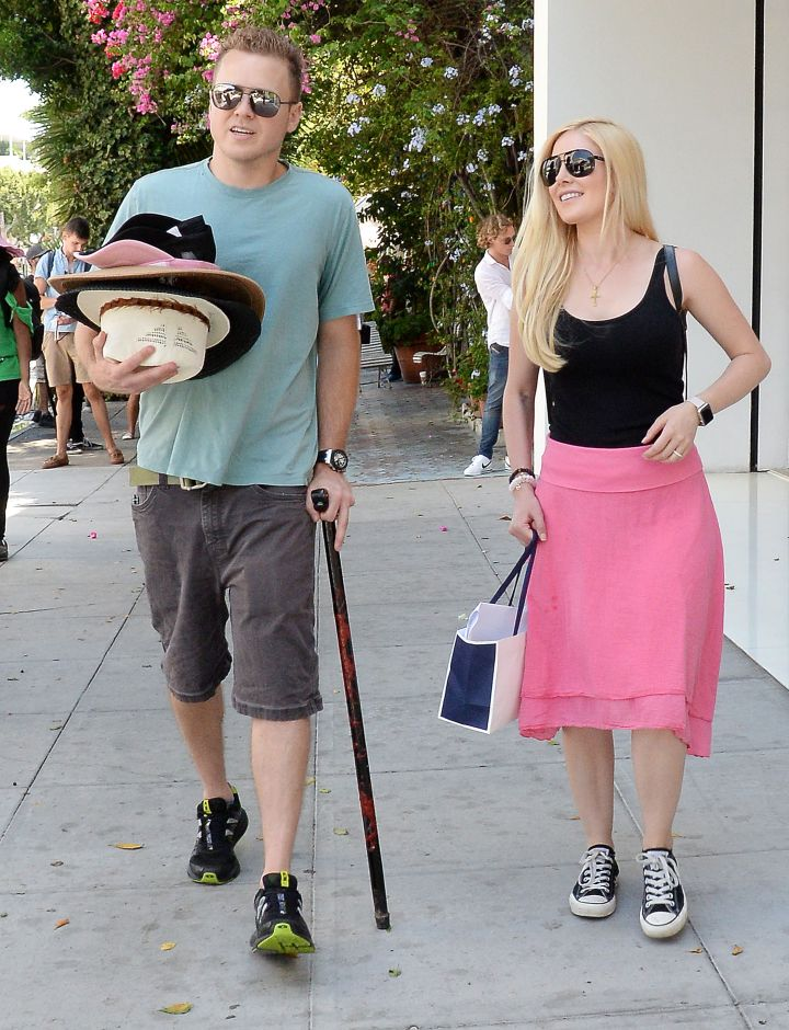 Blast from the past: Heidi Montag and husband Spencer Pratt were out for some shopping in Beverly Hills.
