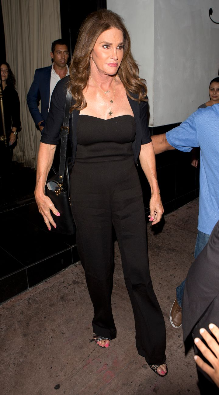 Caitlyn Jenner was seen leaving Beso Restaurant in Hollywood, CA.