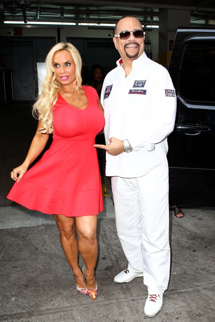 Pregnant Coco Austin and Ice-T looked happier than ever while leaving the Huffington Post building.