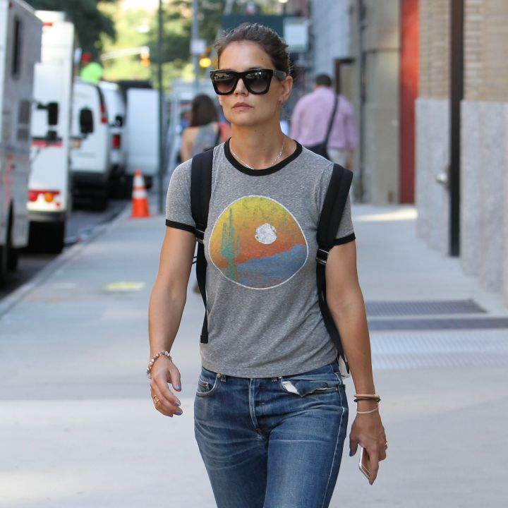 Katie Holmes was spotted heading to her office in NYC.