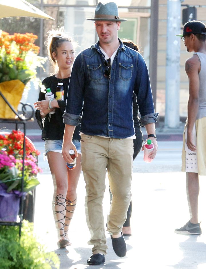 Former N'Sync-er JC Chasez enjoyed the day in L.A. with his girlfriend.